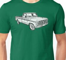 1975 Ford F100 Explorer Pickup Truck Illustrarion Unisex T-Shirt