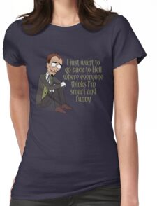 Rick and Morty – I Just Want to Go Back to Hell Womens Fitted T-Shirt