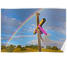 Easter Cross  in the Foothills  Poster