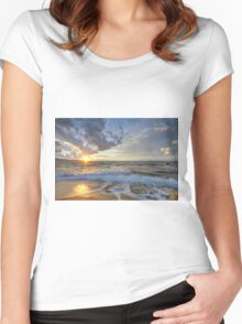 Breathtaking sunset Women's Fitted Scoop T-Shirt