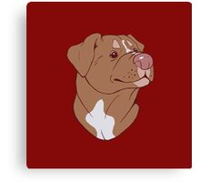 Pit Bull Pride- Red Canvas Print