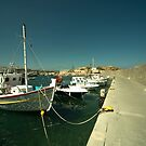 Hersonissos Harbour  by Rob Hawkins