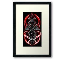 Skull ornament Framed Print