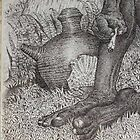 a detail of my drawing pointillism by bemfi istanto