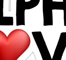 Alpha Love Sticker