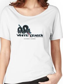 White Dragon - Noodle Bar (Black Variant) Women's Relaxed Fit T-Shirt