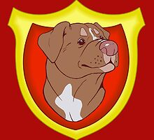 Pit Bull Pride - Red with Crest by cinderwolfeh
