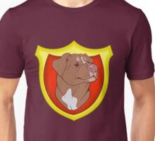 Pit Bull Pride - Red with Crest Unisex T-Shirt