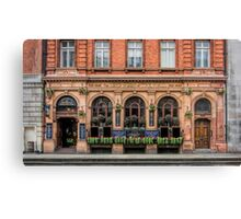 Outside View of an English Pub Canvas Print