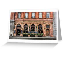 Outside View of an English Pub Greeting Card