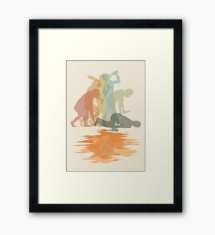 Drunk Evolution Framed Print