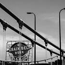 Grain Belt Beer Sign and Bridge by susan stone
