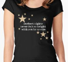 Turning Dark To Light... Women's Fitted Scoop T-Shirt