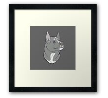 Pit Bull Pride - Blue Pointed Framed Print