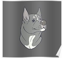 Pit Bull Pride - Blue Pointed Poster