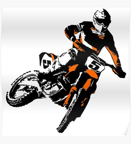 Moto Cross Racing Poster