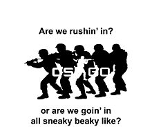 CSGO Sneaky Beaky Shirt (LOGO) Photographic Print