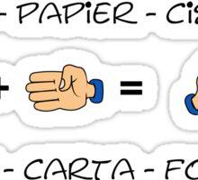 Stone, Paper & Scissors Sticker