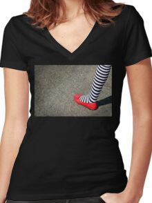 4th July Foot Women's Fitted V-Neck T-Shirt