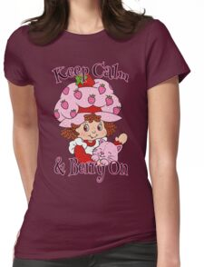 Keep Calm and Berry On Womens Fitted T-Shirt