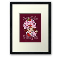 Keep Calm and Berry On Framed Print