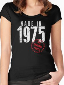 Made In 1975, All Original Parts Women's Fitted Scoop T-Shirt