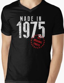 Made In 1975, All Original Parts Mens V-Neck T-Shirt