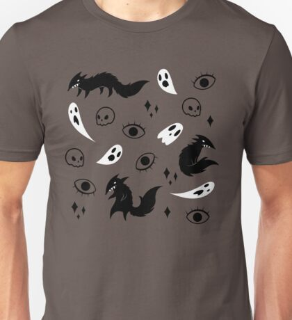 Wolf and Ghost Pattern Unisex T-Shirt