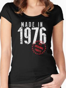 Made In 1976, All Original Parts Women's Fitted Scoop T-Shirt