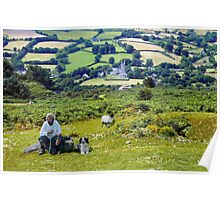 The Shepherdess and her Valley Poster