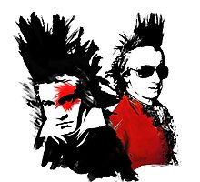 Beethoven Mozart Punk Photographic Print