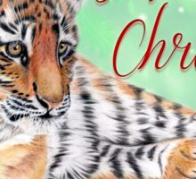 Festive Tiger Cub Sticker