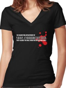 SIRIUS CYBERNETICS CORPORATION Women's Fitted V-Neck T-Shirt