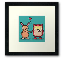 Retro Besties Framed Print