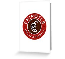 Chipotle Logo Greeting Card