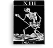 The death card Canvas Print