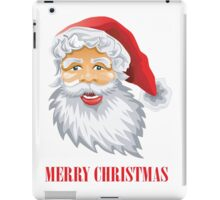 Cute Santa Claus Wishing Merry Christmas iPad Case/Skin
