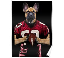 Chop american football color Poster