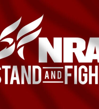 NRA Stand and Fight red Sticker