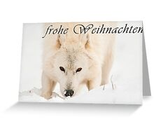 Arctic Wolf Christmas Card - German - 10 Greeting Card