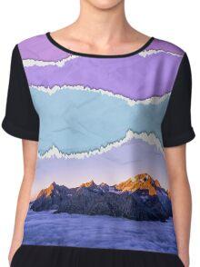 Mountain layers Chiffon Top