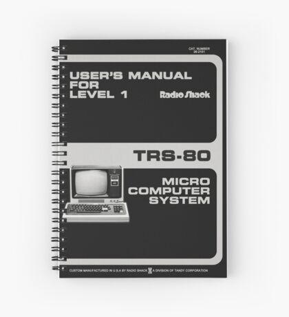 Radioshack TRS-80 Manual, Vector Recreation  Spiral Notebook