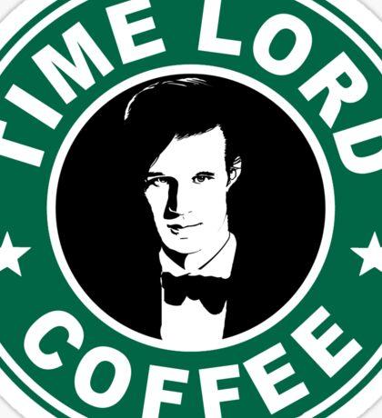 Time Lord Coffee Sticker