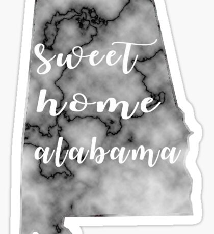 Sweet Home Marble Black and White Sticker