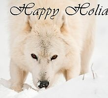 Arctic Wolf Holiday Card - 10 by WolvesOnly