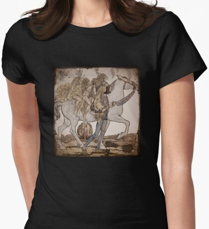 Faeries on Horseback  Womens Fitted T-Shirt