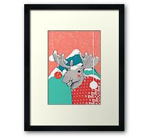 Christmoose, Winter Moose Framed Print