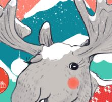 Christmoose, Winter Moose Sticker