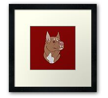 Pit Bull Pride- Red Point Framed Print