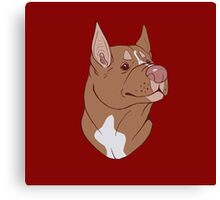 Pit Bull Pride- Red Point Canvas Print